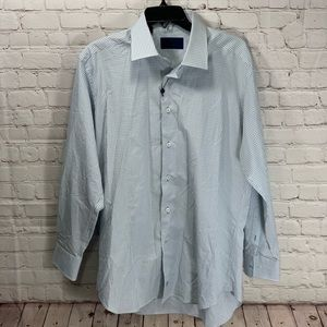 NWOT David Donahue Mini Checked Button Down Shirt